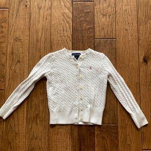 Ralph Lauren Cable Knit Cardigan Sweater Cream 5
